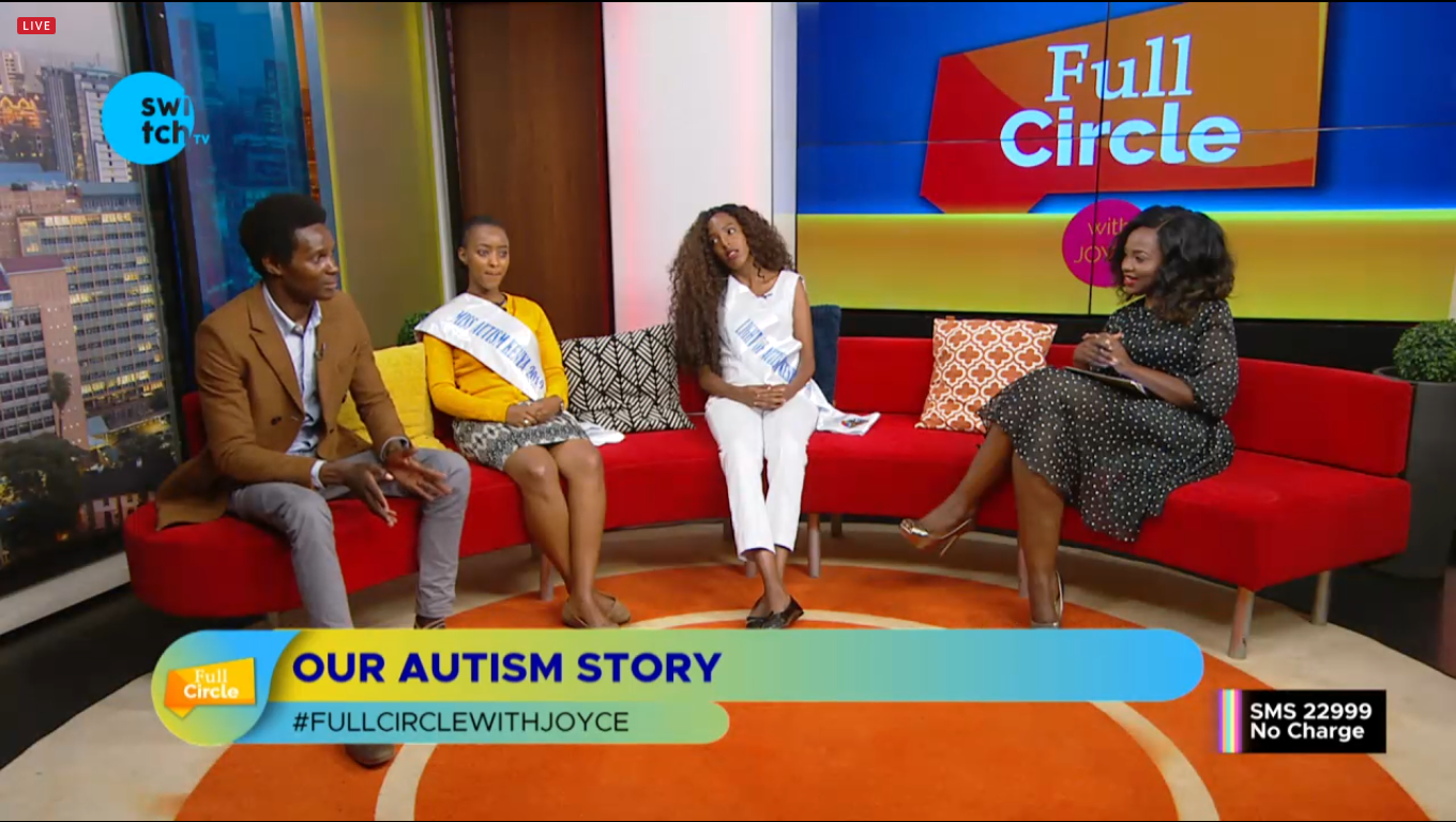 Autism Advocacy with Our founder Mr Ambani Lexy, Miss Autism Kenya Miss Peggy Julian, and Light of Autism in Kenya Miss Sarah Bosibori at Swich Tv